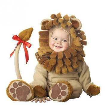 2017 New Arrival Christmas Xmas Holiday Halloween Costume Infant Baby Girls Lion Rompers Cosplay Newborn Toddlers Clothes