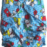 Reusable Pocket Cloth Diaper with a microfiber insert- Blue