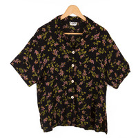 CLIO - Women's Size S Flowered Button Up