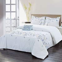 Filigree Spray 5-pc. Comforter Set (White)