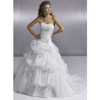 Ball Gown Strapless Chapel Train TaffetaWedding Dress WBG08331 - Wedding Dresses