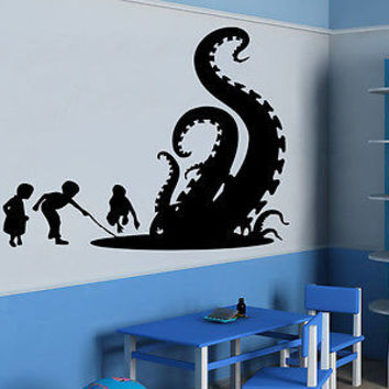 Wall Decals Nursery Vinyl Sticker Decal Octopus Tentacles Animals Bedroom C96