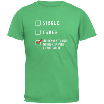St Patricks Day - Hook Up Bartender Irish Green Adult T-Shirt