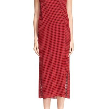 T by Alexander Wang Check Gauze Wrap Dress | Nordstrom