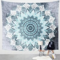 Beach towel Vanitas Mandala Tapestry Wall Hanging Moroccan Indian Printed Decorative Wall Tapestries 144x142cm