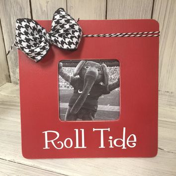Alabama Picture Frame / Rustic Picture Frame / University of Alabama game day Picture Frame