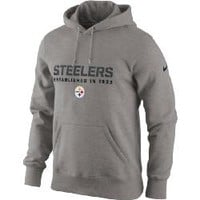 Pittsburgh Steelers Nike Team Issue Classic Grey Hoodie - Official Online Store