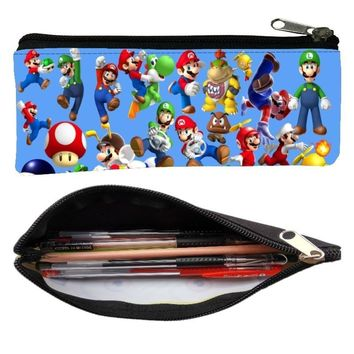 New Arrives Cartoon Super Mario Women Coin Purses Five Night At Freddy Kids Baby Pen Bags Boys Key Wallet Children Change Purse