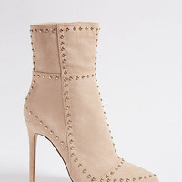 Faux Suede Studded Boots
