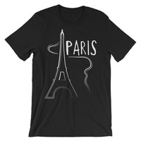 Paris Unisex short sleeve t-shirt