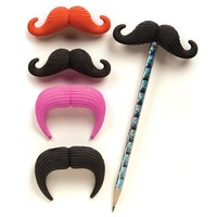 Mustache Eraser Pencil Topper | Shop GEDDES