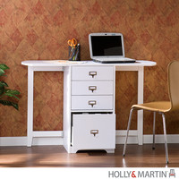 Holly & Martin Paige White Fold-Out Organizer & Craft Desk
