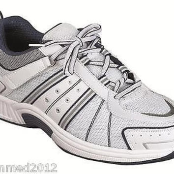 Orthofeet Men's Athletic Comfort Shoes Velcro - Wide - FREE Inserts!