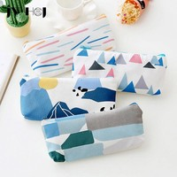 1 pcs JWHCJ small fresh Forest series Canvas pencil case pencil bag Pouch Purse stationery escolar school supplies Students gift