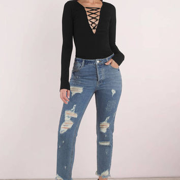 Gretchen Distressed Denim Pants