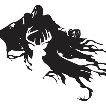Harry Potter Stag Patronus and Dementor Silhouette Decal Sticker