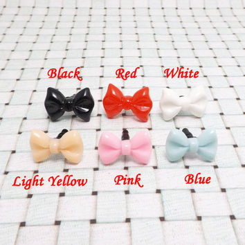 6 Colors Red Pink Bowknot Bow Tie Butterfly Dust Plug 3.5mm Phone Accessory Charm Headphone Jack Earphone Cap iPhone 4 4S 5 iPad HTC Samsung
