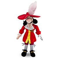 Captain Hook Plush - Peter Pan - Medium - 19''