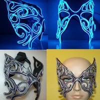 Leather EL Wire Mask, Fairy Butterfly