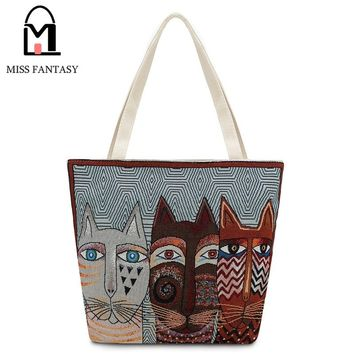Vintage Animal Print Tote Bag by Miss Fantasy