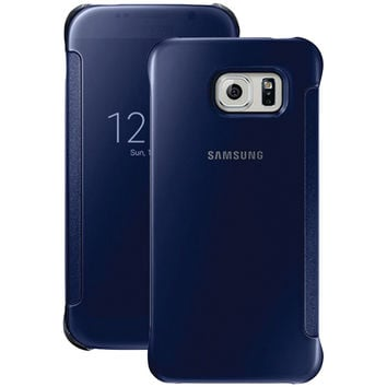 Samsung Samsung Galaxy S 6 S-view Flip Cover (clear And Black Sapphire)