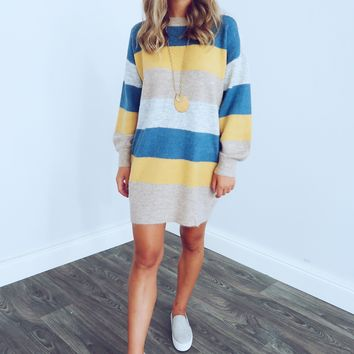 Sweater Weather Dress: Multi