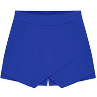 Royal Blue Culottes Tulip Shorts