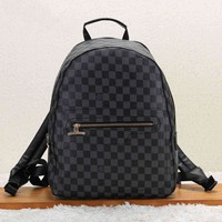 LV Louis Vuitton Fashionable Women Casual School Bag Leather Backpack