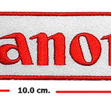 Canon DSLR Digital Camera Photographer DIY Embroidered Sew Iron on Patch
