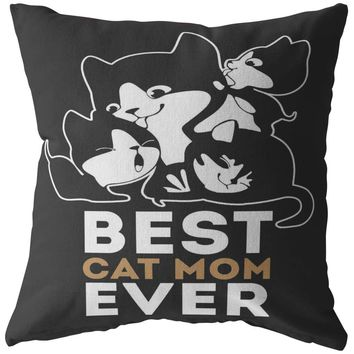 Funny Cat Pillows Best Cat Mom Ever