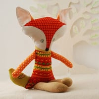 Fox Doll, Stuffed Fox Toy, Woodland Animal Toys, Gift for Girl, Nursery Decor, Forest Animal, Soft Toys, Orange Fox Stuffed Doll