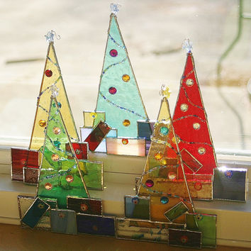 Shop Stained Glass Christmas Suncatchers on Wanelo