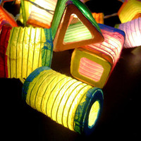 Mixed Colors Paper Lantern Wedding/Party String Lights
