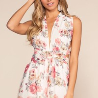 Garden Of Eden Romper - White