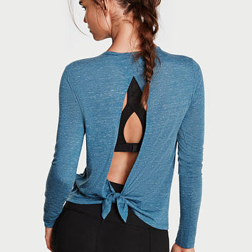 Tie-back Long Sleeve Tee - Victoria Sport - Victoria's Secret