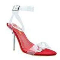Clear Obsession Heels - Red