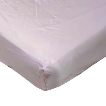 Pink Cloud Satin Fitted Crib Sheet - Fits Standard Crib Mattresses and Daybeds