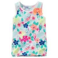 Toddler Girl Carter's Patterned Bow Tank Top