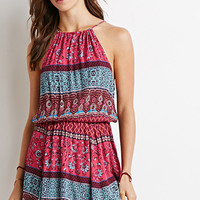 Ornate Print Babydoll Dress