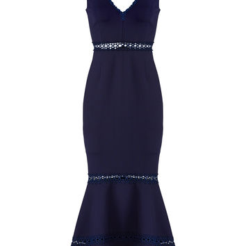 Nicholas Plunging Navy Dress
