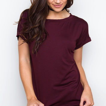 Dion Top - Burgundy