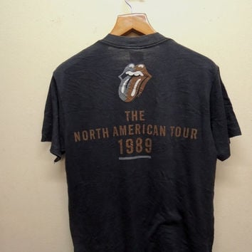 25% SALES ALERT Vintage 90's Rolling Stones Steel Wheels The North American Tour 1989 Classic Rock Band T shirt Street wear Punk Rock Tops &