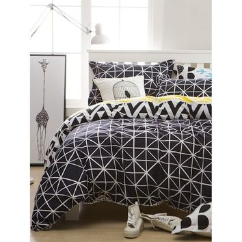 Simple Plaid Duvet Cover Set