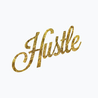 "Typographic Art ""Hustle"" Wall Art Inspirational Quote Typographic Print Fitness Motivation Poster Print"