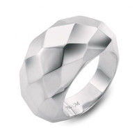 Monica Rich Kosann Sterling Silver Faceted Cocktail Ring