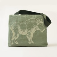 Mountain Goat Canvas Tote Bag