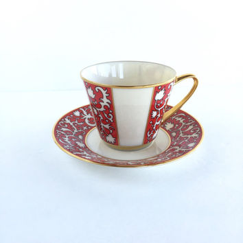 Gorgeous Lenox Firesong Cup and Saucer