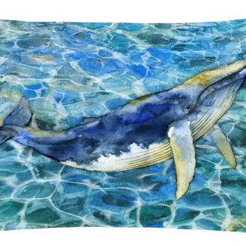 Humpback Whale Canvas Fabric Decorative Pillow BB5336PW1216