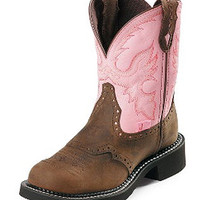 Justin Boots Ladies Gypsy Cowgirl Collection Bay Apache With Perfed Saddle Vamp Western Boots L9901 - Scruggsfarm.com