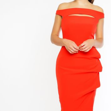Rebekah Dress - Tangerine